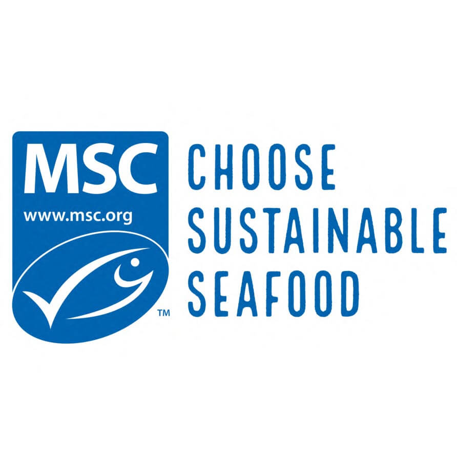 Choose sustainable seafood with the blue fish tick