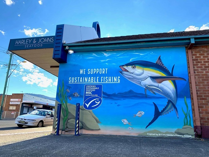 Harley and Johns Seafood Mural