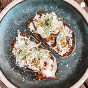 Grilled Octopus Tostada by Harry Foster