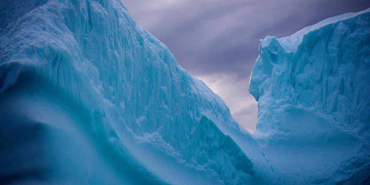 Large iceberg in Antarctica