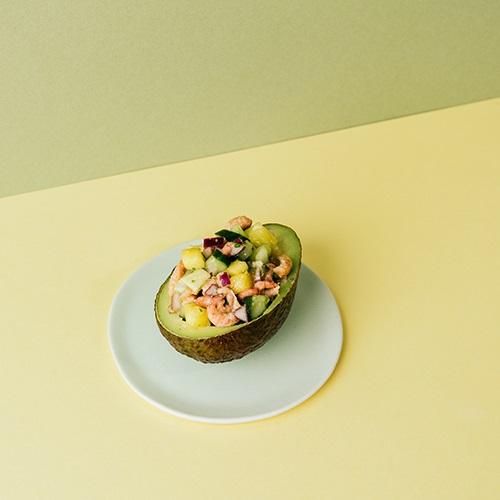 Garnalencocktail gezond met mango & avocado