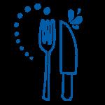 cutlery icon blue