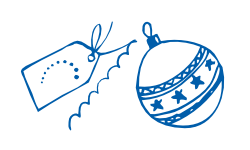 ornament and bauble icons blue