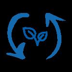 sustainability icon blue