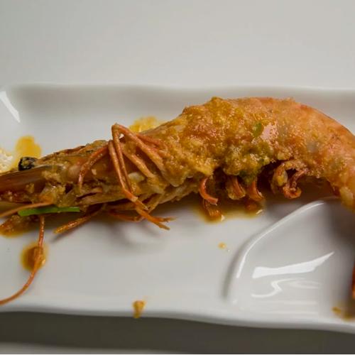 Chili crab de langostinos