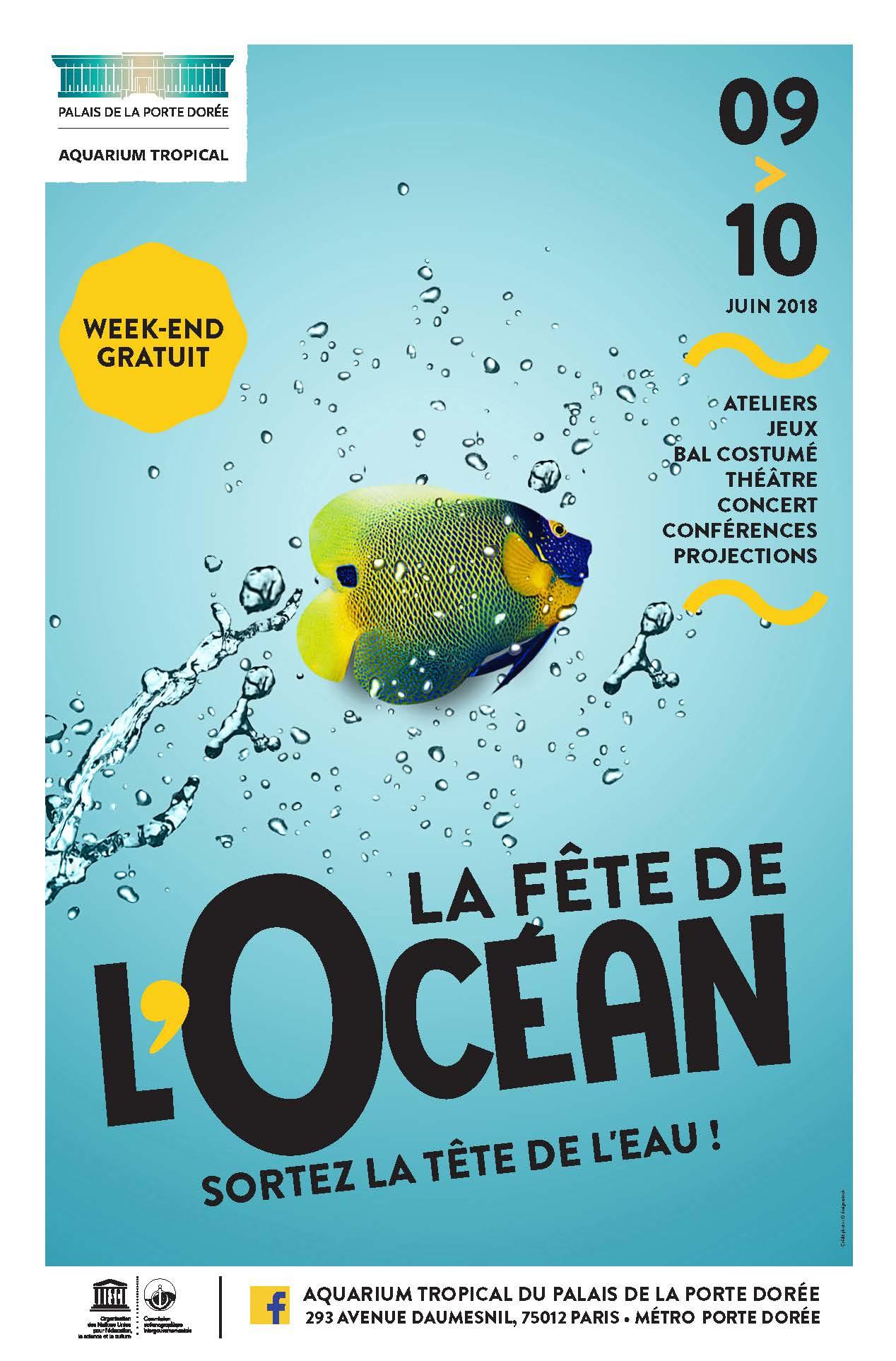 Affiche Fête de l'océan 2018
