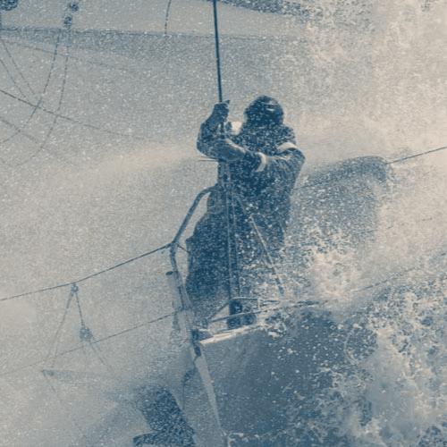 Homme durant le Vendée Globe