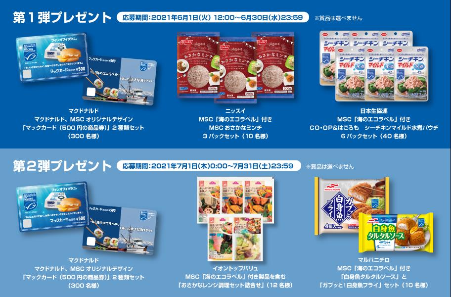 MSCジャパン 2021年キャンペーン プレゼント賞品一覧