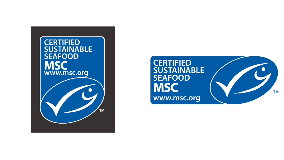 MSC label format vertical and horizontal
