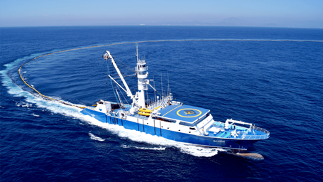 Northeastern Tropical Pacific Tuna boat at sea