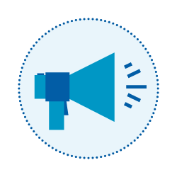 Assessment announcement and stakeholder comments icon