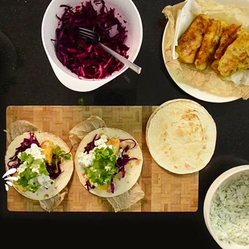 Tacos de merluza