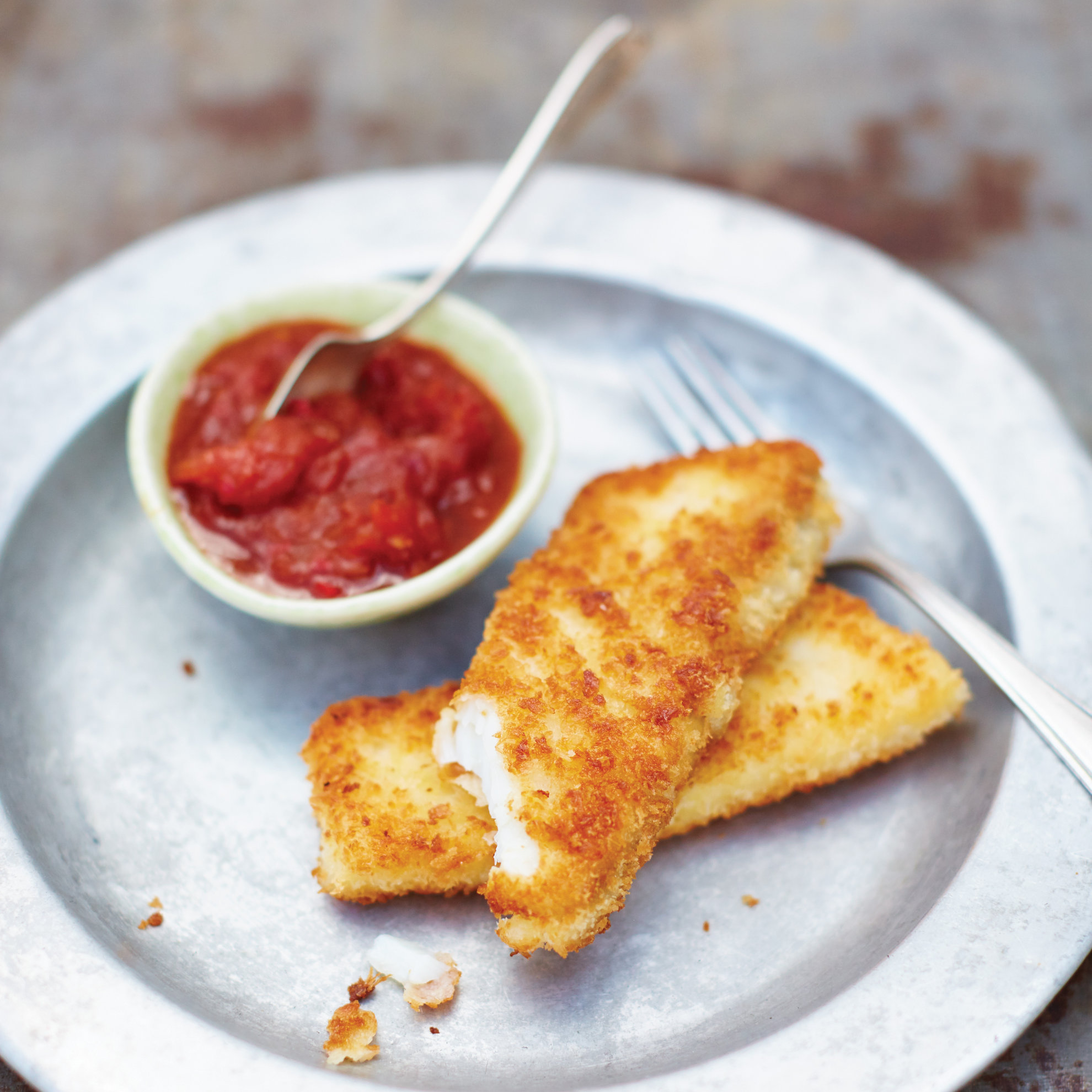 Fish fingers with Ketchup - Recipe by Bart van Olphen, Photo by David Loftus