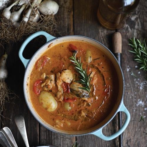 Hake and potato 'potjie' (stew)
