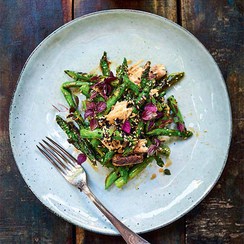Mackerel Asparagus Salad with Sesame Vinaigrette_Square