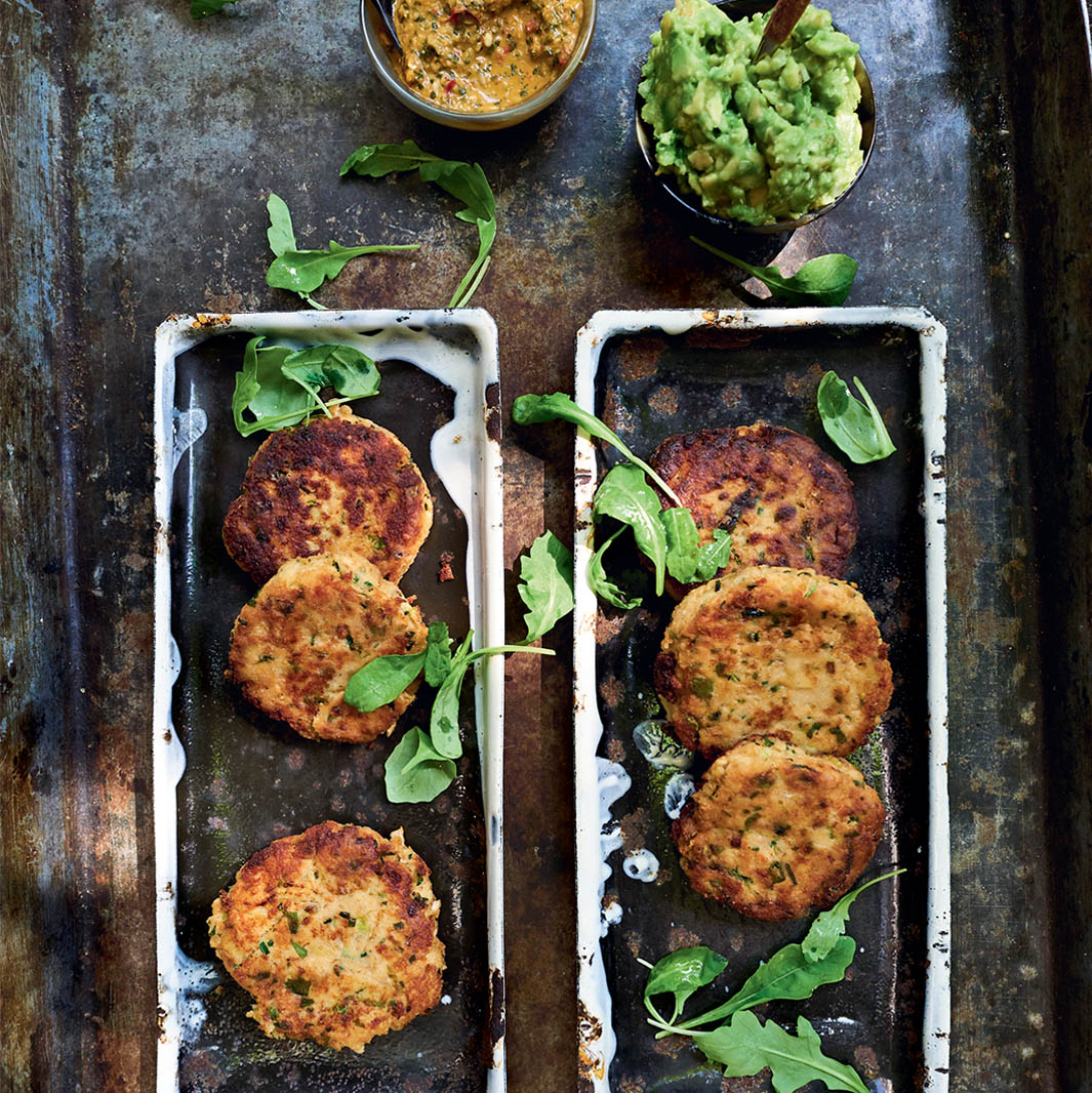 Salmon Cakes with Chimichurri_Square
