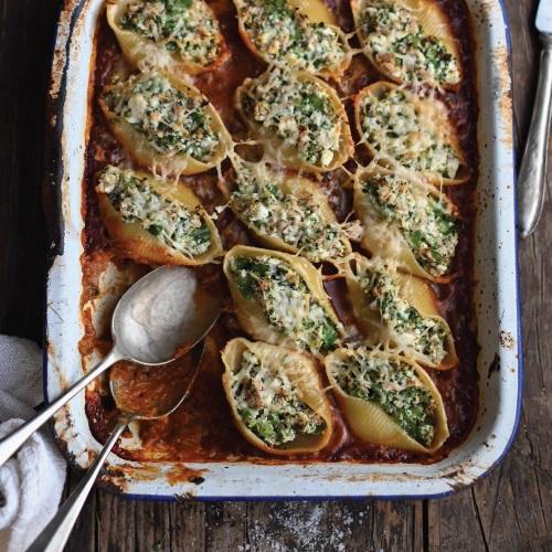 Tuna, Broccoli & Ricotta Stuffed Pasta Shells