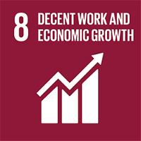 SDG 8 Decent work and economic growth icon