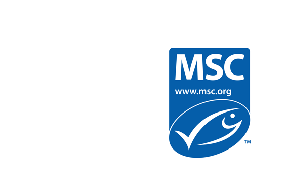 Marine Stewardship Council blue logo and text: Enjoy the seafood you love, today tomorrow and always