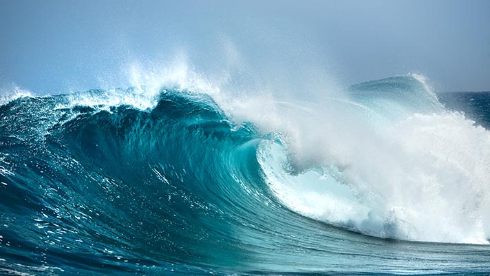Large, rolling ocean wave