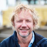 Portrait close-up of Bart van Olphen