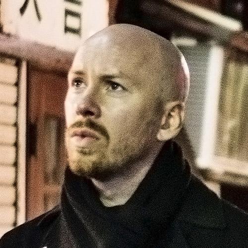 Close-up portrait of Jesper Björkell