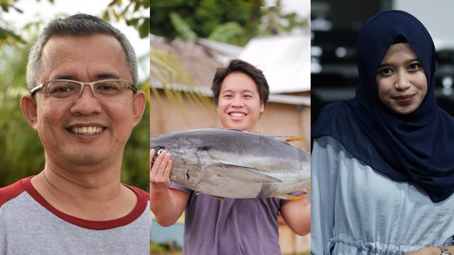 Triptych of MSC Indonesia team portraits