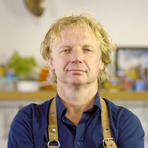 Chef Bart van Olphen head and shoulders shot