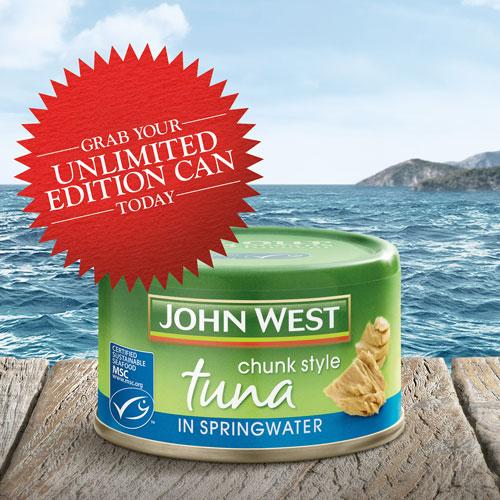 Tin of MSC certified John West tuna