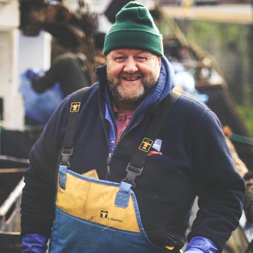Project UK fisherman on dockside