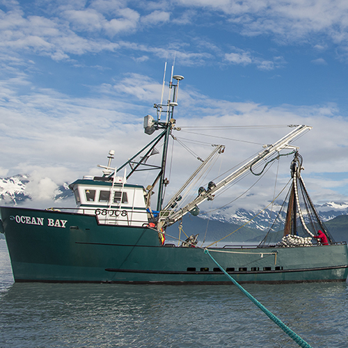 Boat in Alaskan waters, courtesy of ASMI