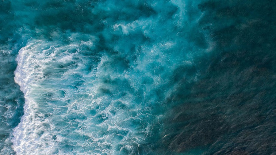 Stormy sea seen from above