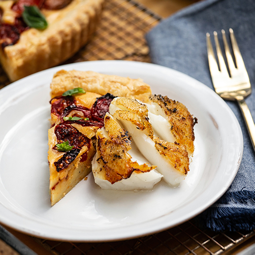 Recipe_Tomato ricotta tart with roasted cod_Compressed