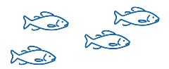 Blue fish illustration