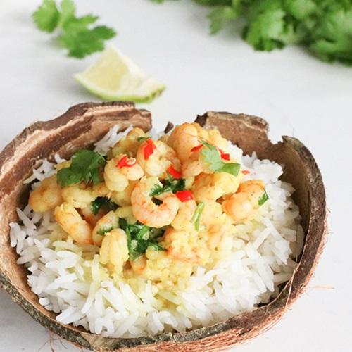 Thai-curry med reker