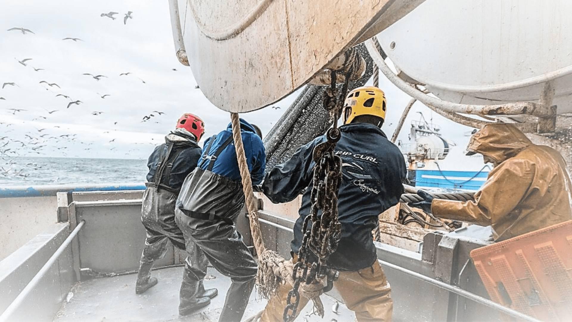 vissers op de boot