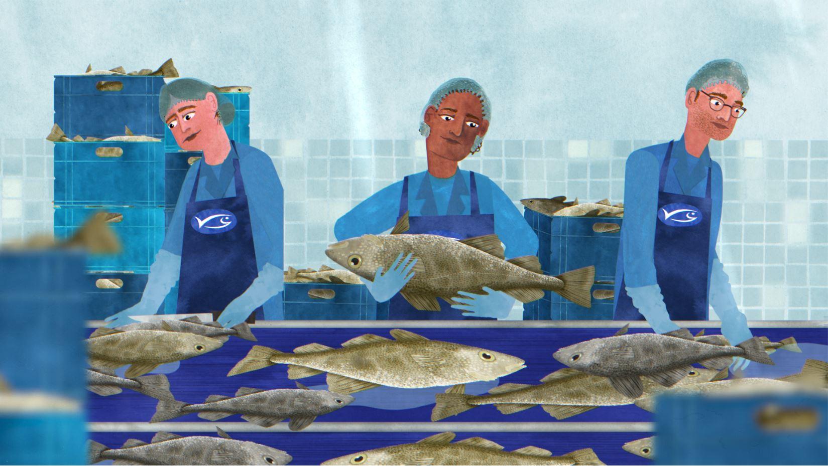 animatie visverwerker