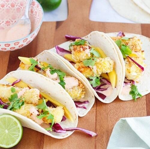 Tacos met kabeljauw
