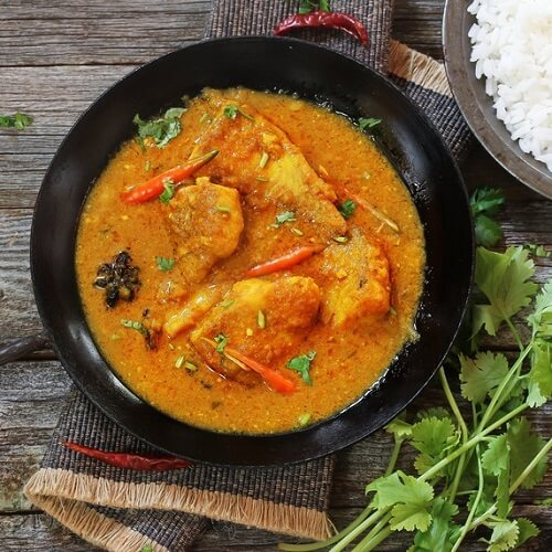 Goa Curry met koolvisfilet