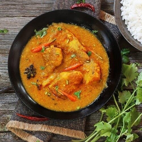 Indiase viscurry met koolvis