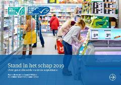 Omslag rapport stand in het schap 2019