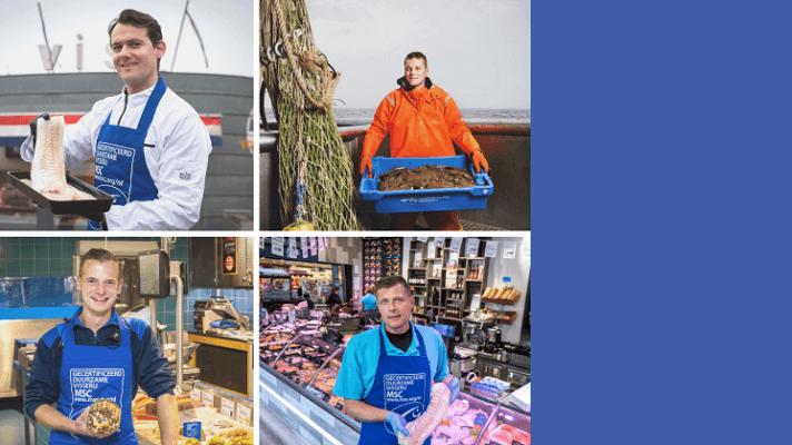 collage vissers / visspecialisten