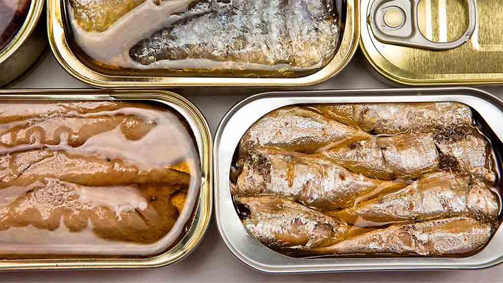 Makreel, sardine of haring in blik