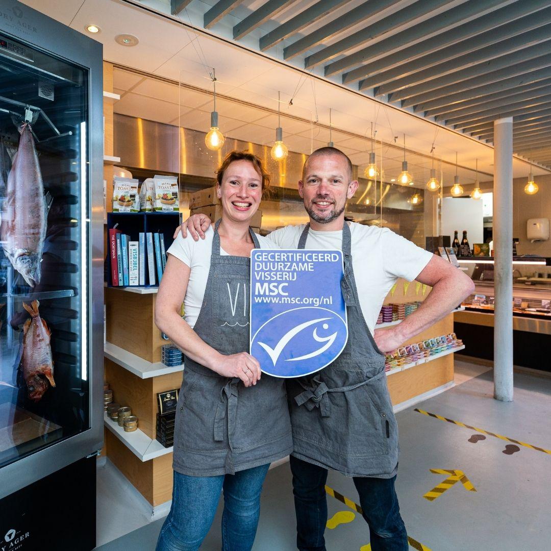 Vizmarkt in Haarlem is MSC- en ASC-gecertificeerd