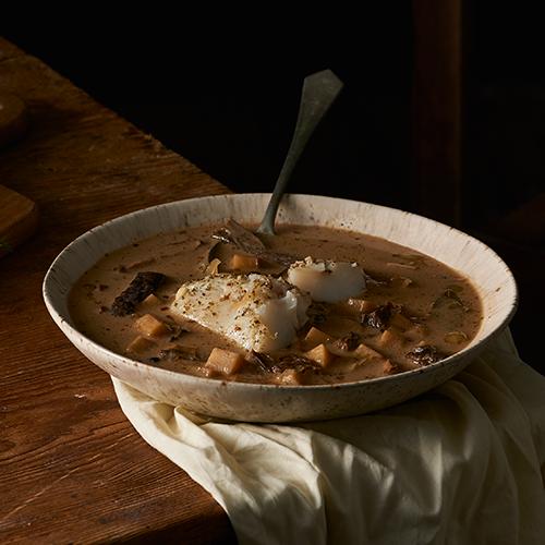 Grzybowa zupa z pieczonym dorszem od Lidl Polska