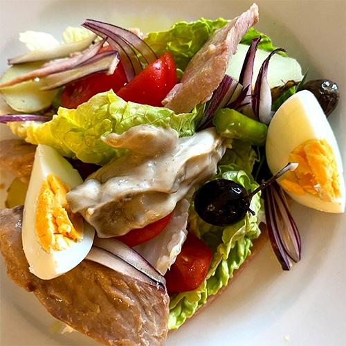 Ventresca Nicoise with Asparagus & Anchovy Mayonnaise
