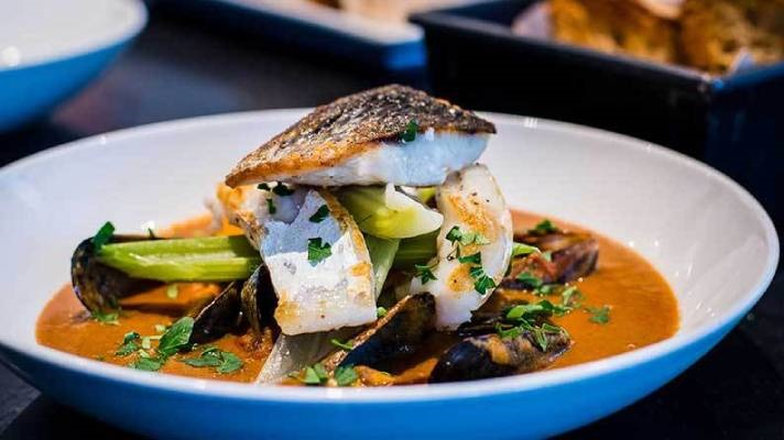 MSC certified fish dish at Lussmann's restaurant