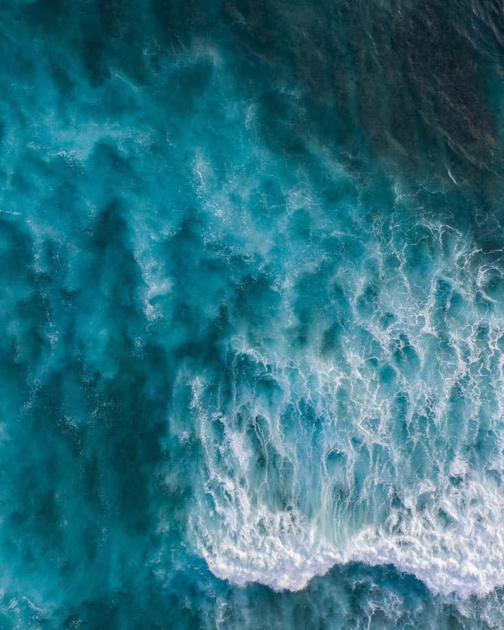 Waves crashing in sea